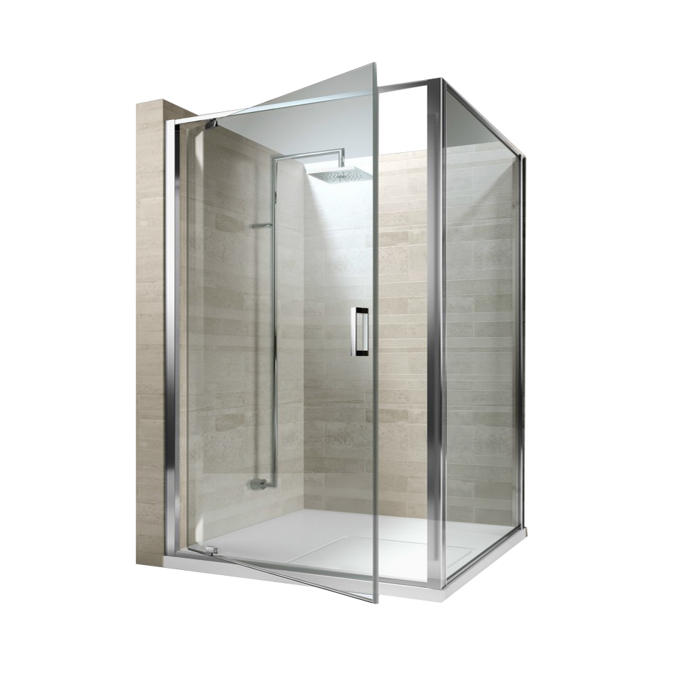 China Supply Frosted Tempered Glass Shower Door Enclosure With Frame