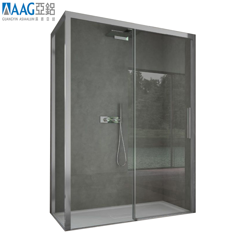 Hot sale square pivot shower enclosure with base