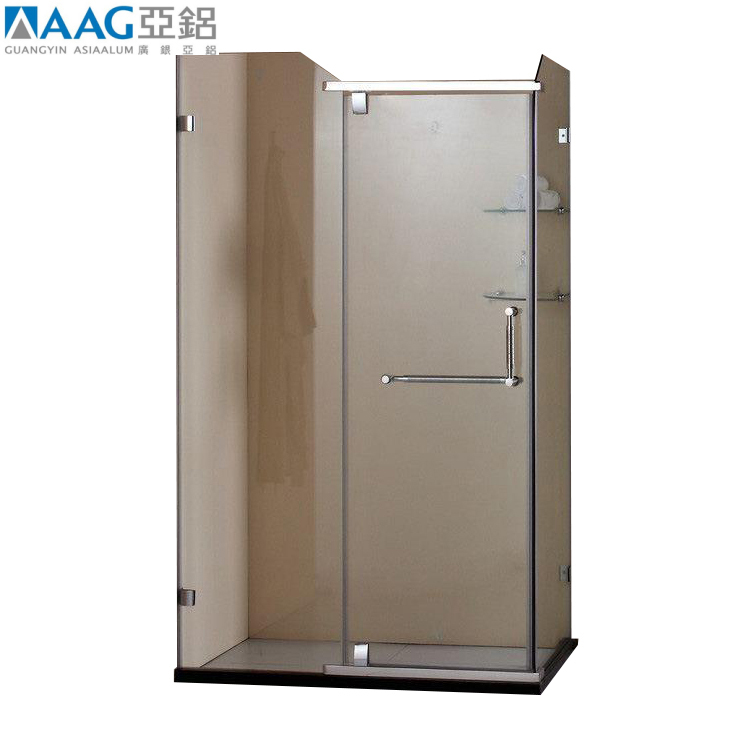 Luxury Style Glass Shower Cubicle Toilet Partition Aluminum Extrusion Profile