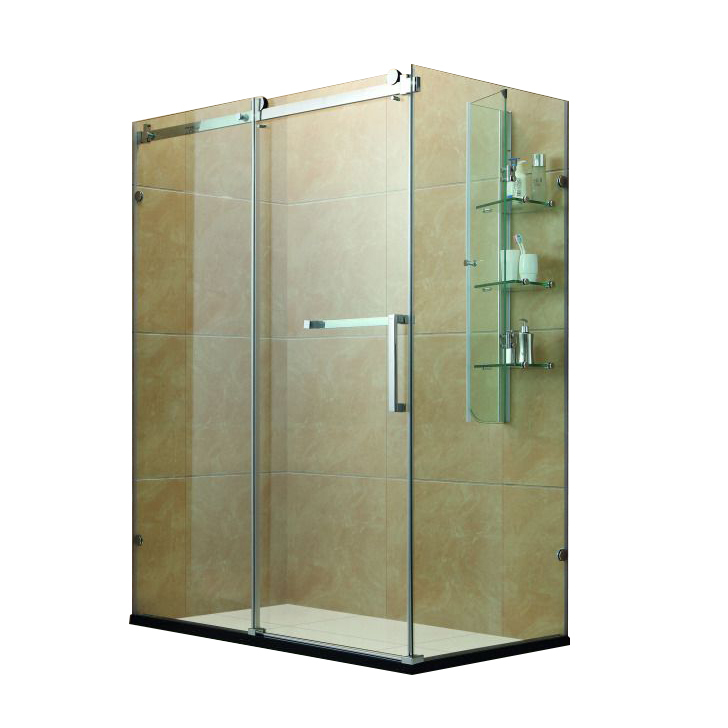 Sliding Open Style Aluminum Frame With Glass Shower rooms enclosure
