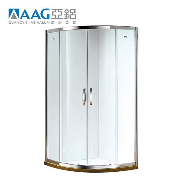 Aluminium enclosed whole tempered glass shower room