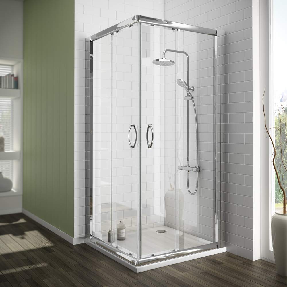 CE Certificated white silding simple square cabin shower cabin