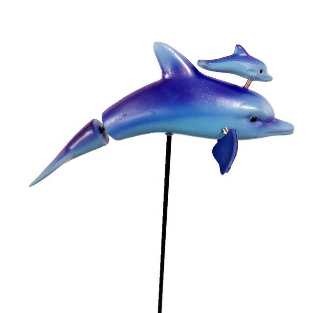 Osgoodway China Wholesale High Quality CuteMarine Animal Plastic Dolphin Garden Stake Garden Decoration Home