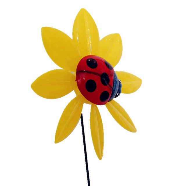 Osgoodway Newest kid products Garden Plastic flower model multicolor flower windmill decor fun toy for Garden decoration