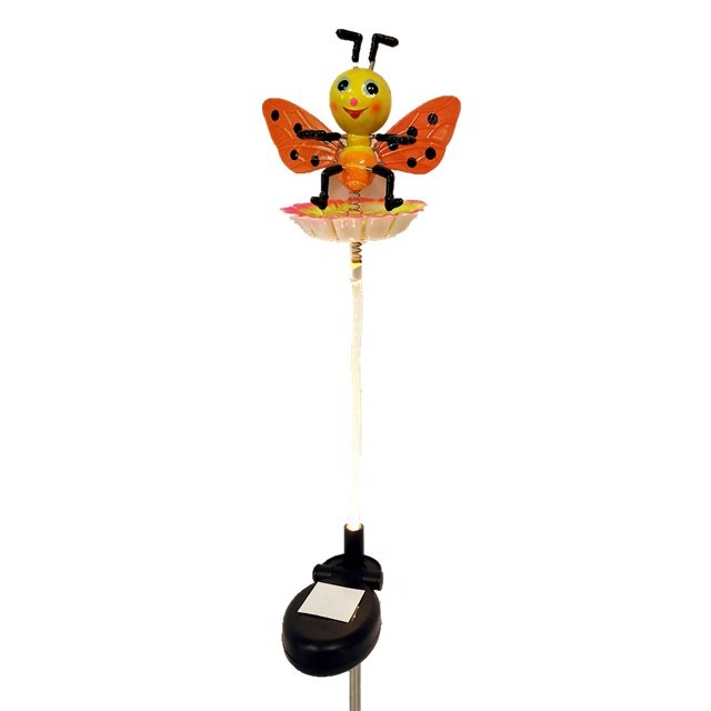 Osgoodway New Products ECO Plastic Garden Solar stake Light Bee Garden ornament garden light outdoor for yard decorations