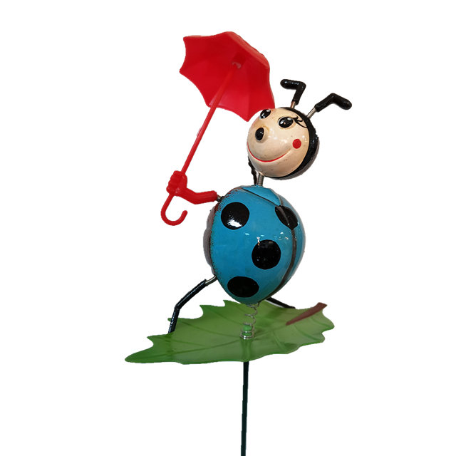 product-Osgoodway-Osgoodway New product Wholesale Ladybird with umbrella funny animal garden decor f