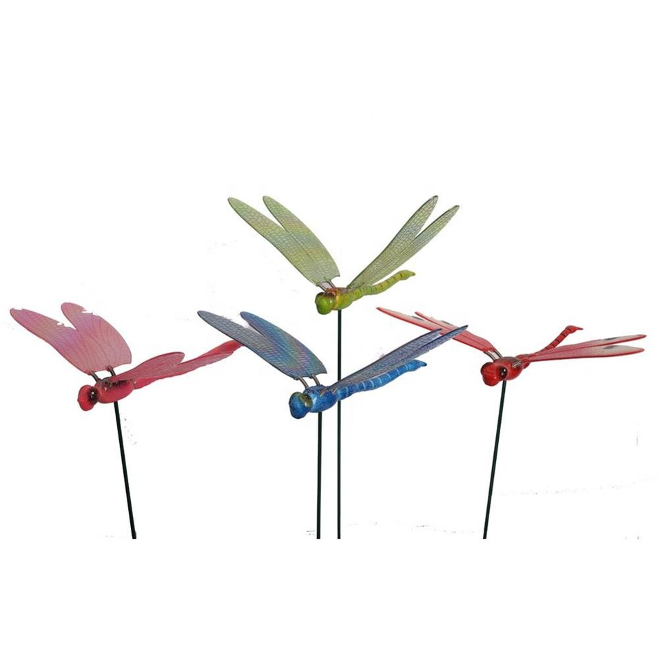 Osgoodway8 KM_151520004 Factory Wholesale Plastic garden Ornaments Dragonfly Stakes for yard 4 colors