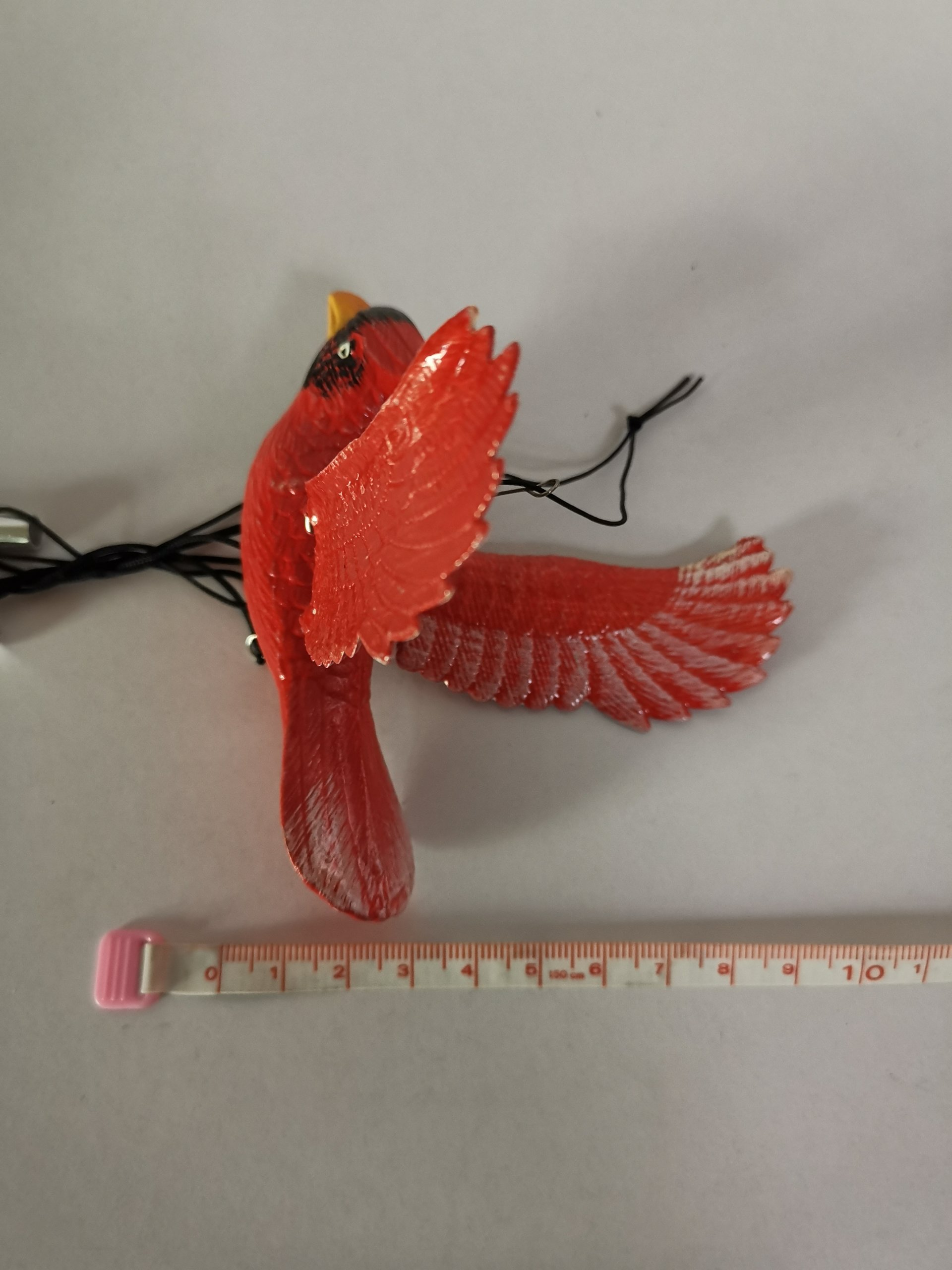 product-Osgoodway China Wholesale Lifelike aeolian bells flying Bird Plastic garden ornament metal f-1