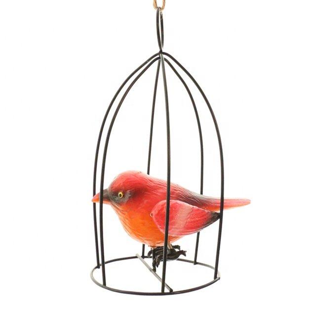 product-OsgoodwayFactory Price CutePlastic Bird in Metal Bird birdcage FittingsGarden decoration-Osg-1