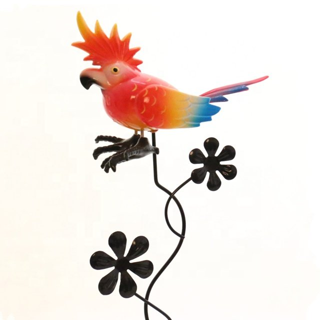 Osgoodway Newest Wholesale Garden Ornament Decoration Factory Price Cute Plastic Parrot Garden yard stakes
