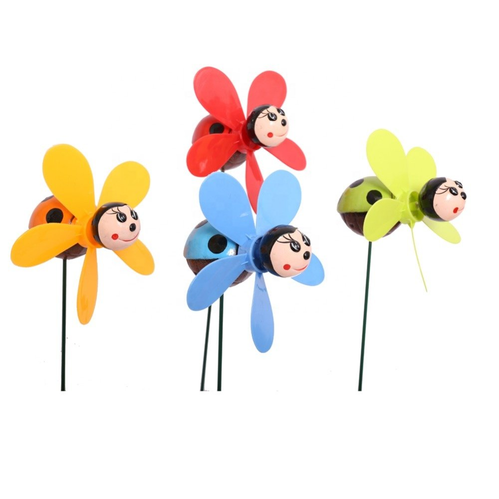 Osgoodway Hot Selling China Manufacturer Plastic Beetle garden Wind Spinners Wholesale