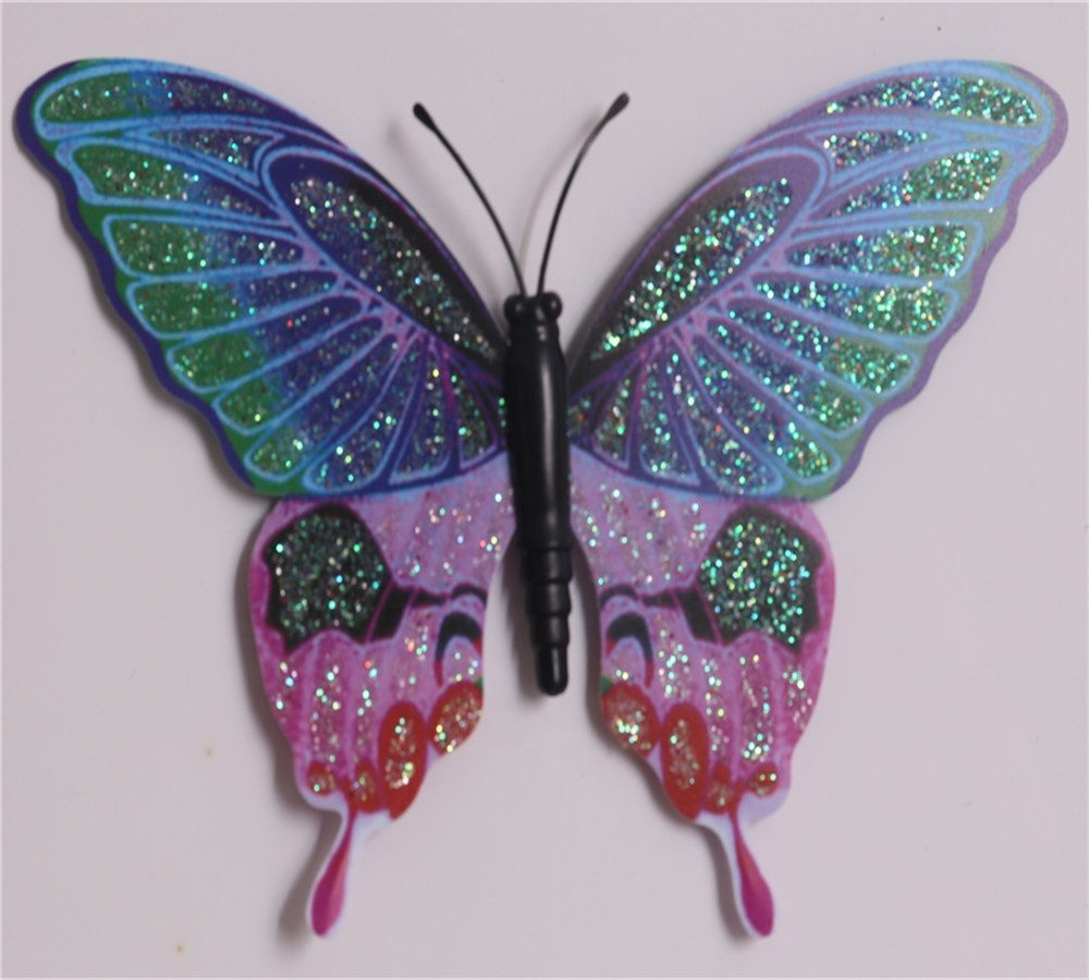 colorful butterfly design metal stake garden decoration kl-170903