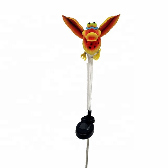 Osgoodway New Products ECO Plastic Garden Solar stake Light Toucan animal Garden Ornament for yard decorations