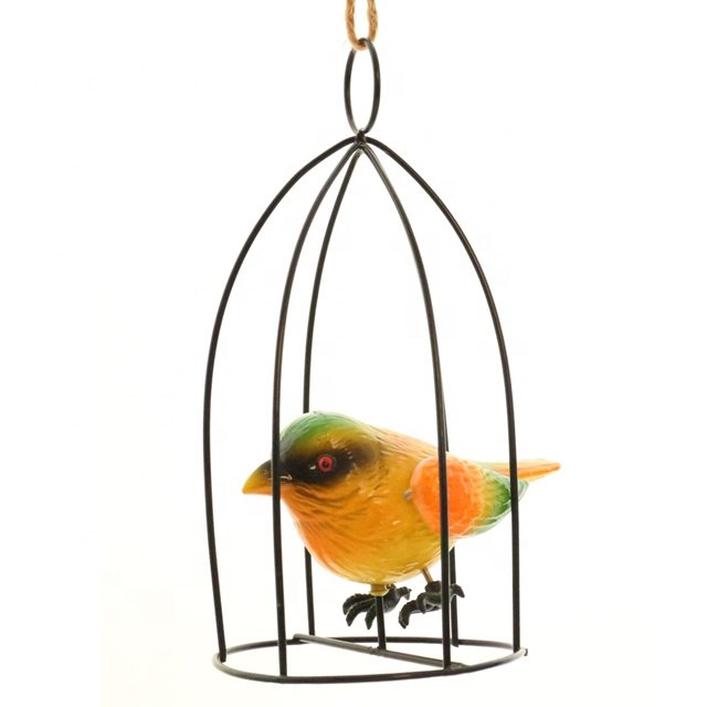 OsgoodwayFactory Price CutePlastic Bird in Metal Bird birdcage FittingsGarden decoration