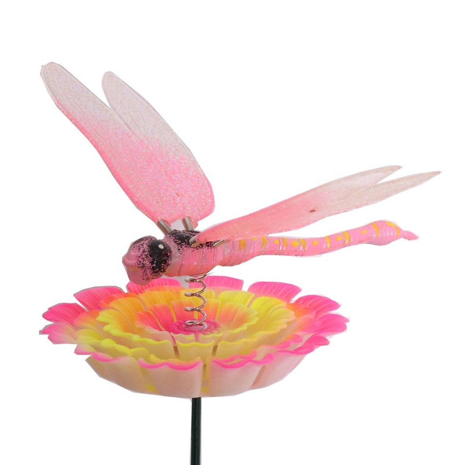 Osgoodway New Products Pink Dragonfly miniature Insect garden ornament outdoor for yard decorations