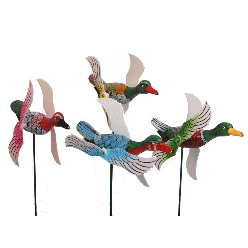 Osgoodway 8 Cute with Great Price Garden Duck Ornaments Cheap Plastic Moulin Vent From China Manufacture