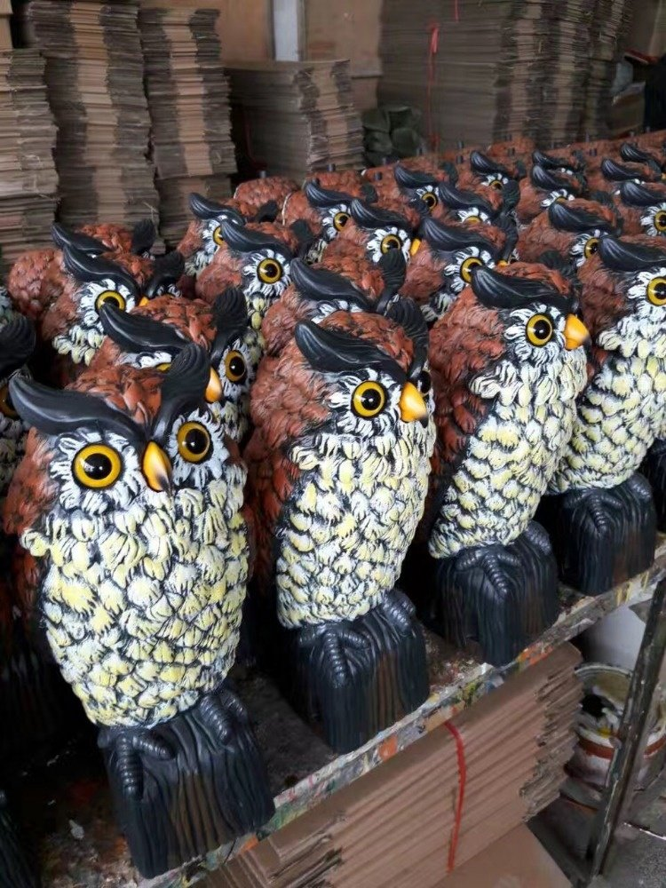 product-OsgoodwayChina Factory WholesaleUV PP Plastic Garden Action Owl With Rotation Head-Osgoodway-1