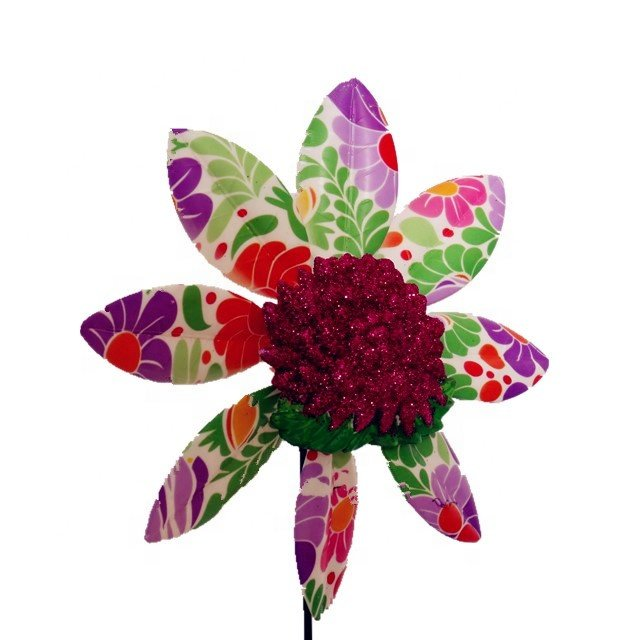 product-Osgoodway-Osgoodway Hot Sale Garden Ornament Plastic flower model multicolor Rose windmill d