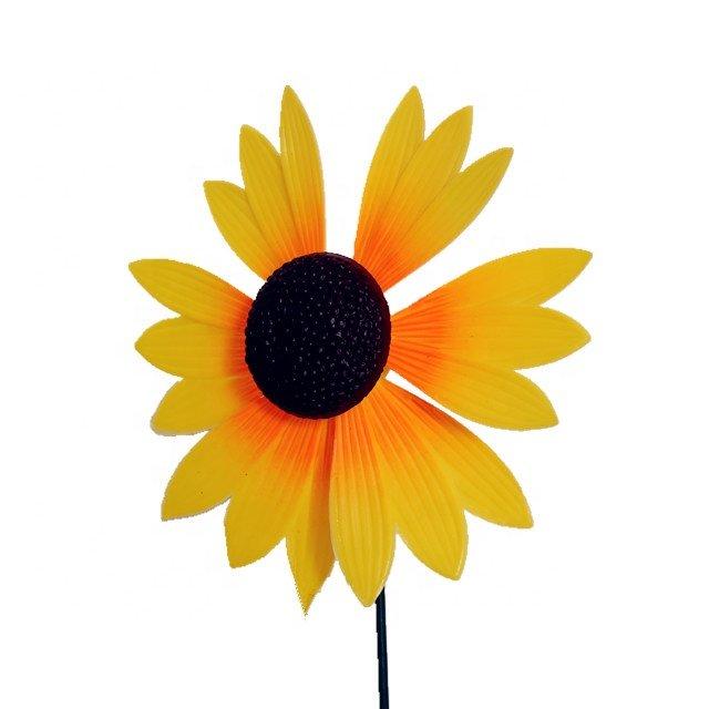 Osgoodway Newest design Garden Ornament Factory Price Plastic Flower windmill decor model sunflower toy for Garden decoration