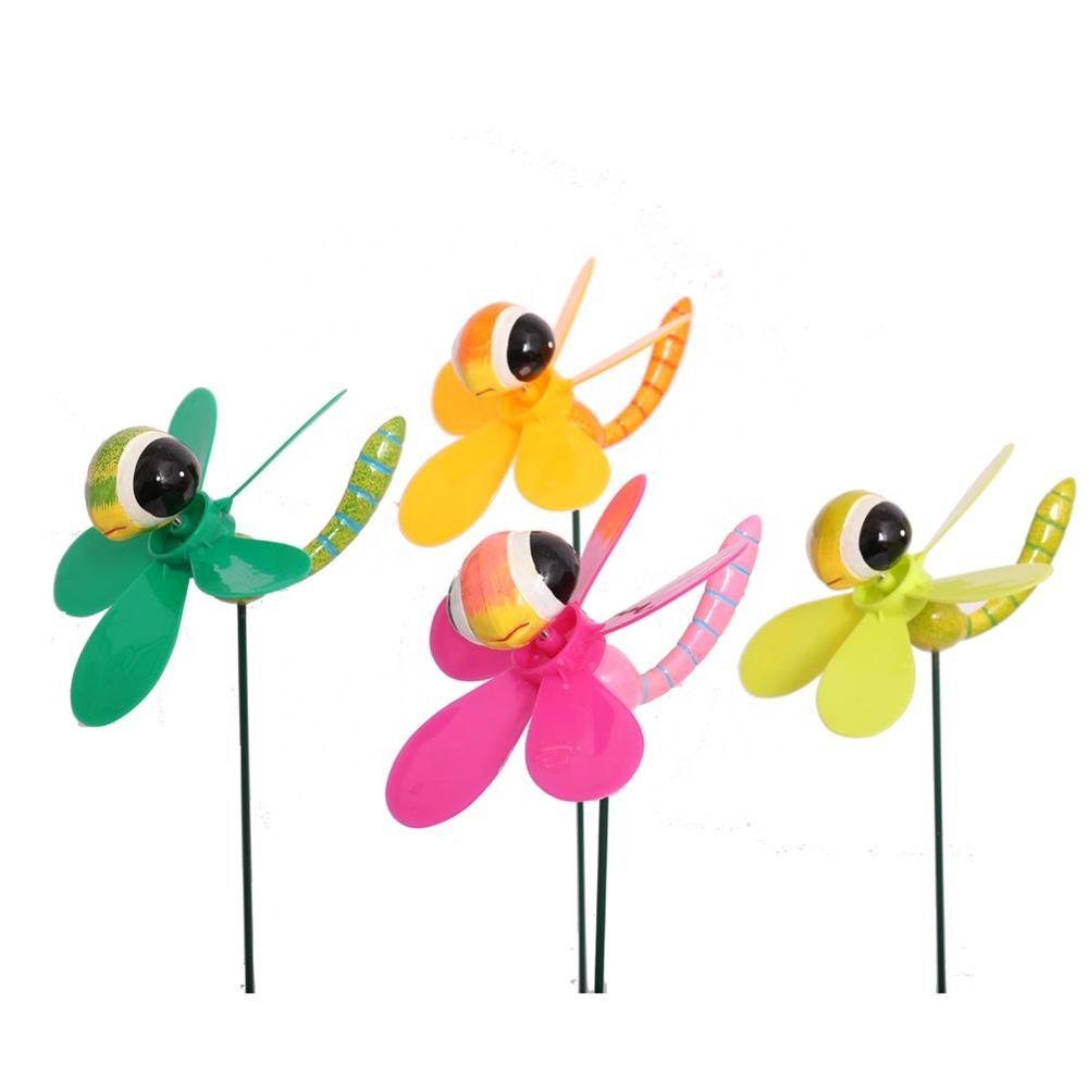Osgoodway8 KM_151520010 Wholesale China Manufacturer Plastic Dragonfly Wind Spinner For Miniature Garden