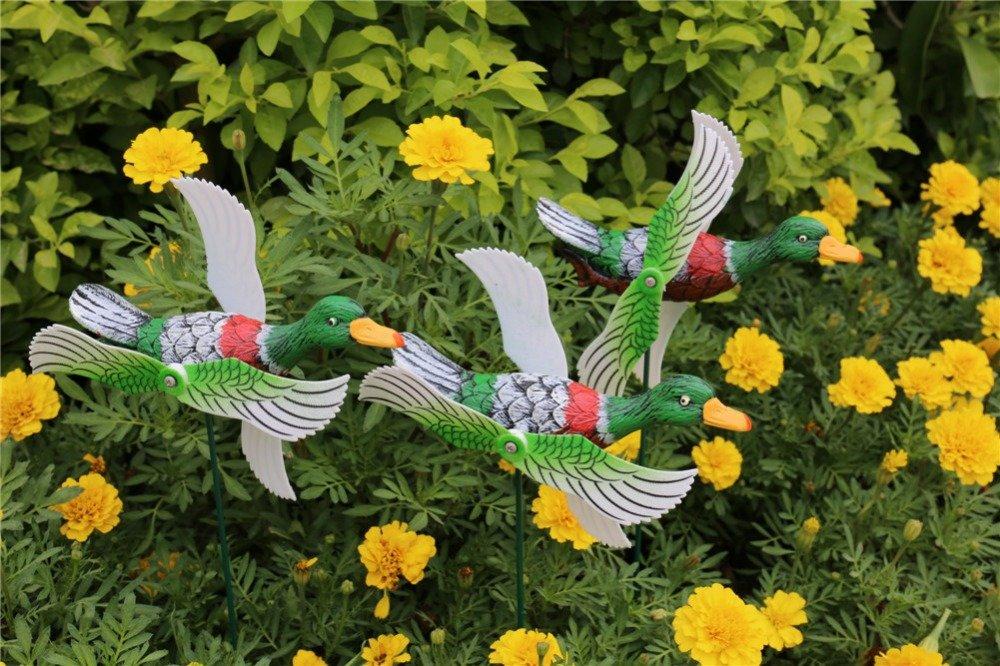 product-Osgoodway-Osgoodway Factory Price garden decoration Decor plastic ducks sticks Fun Windmill