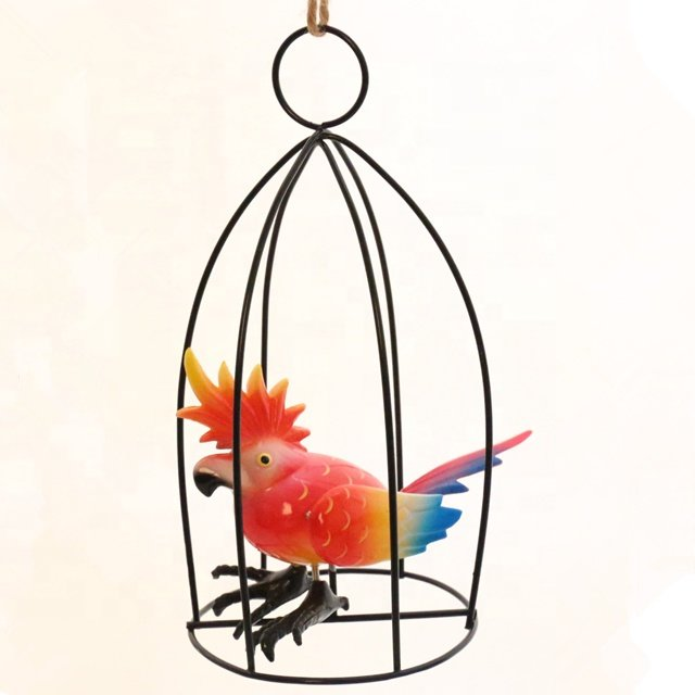 product-Osgoodway Newest Wholesale Garden Ornament Decoration Factory Price Cute Plastic Parrot Gard-1