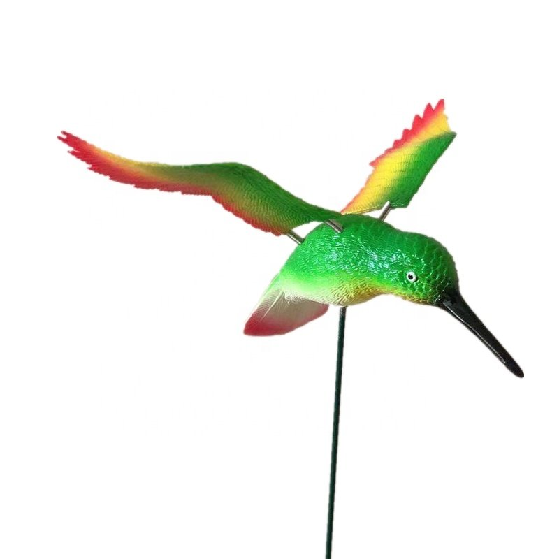 Osgoodway Hot Sale Wholesale Green Hummingbird Flying BirdMetal Outdoor Animal Garden Decorations