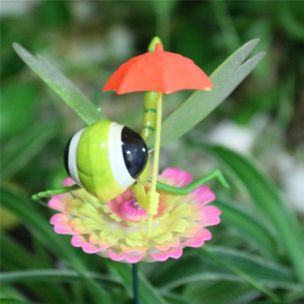 product-Osgoodway Hot Sale wholesaleCartoon Dragonfly with umbrella Plastic Garden Stakes garden dec-1