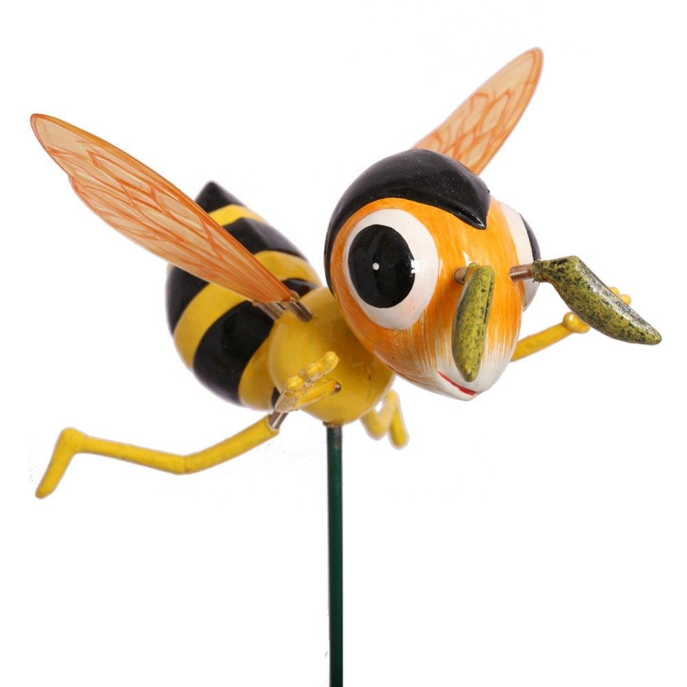 product-Osgoodway-OsgoodwayChina Factory Direct Sale Plastic Garden Spinning Honey Bee Decorative Wi