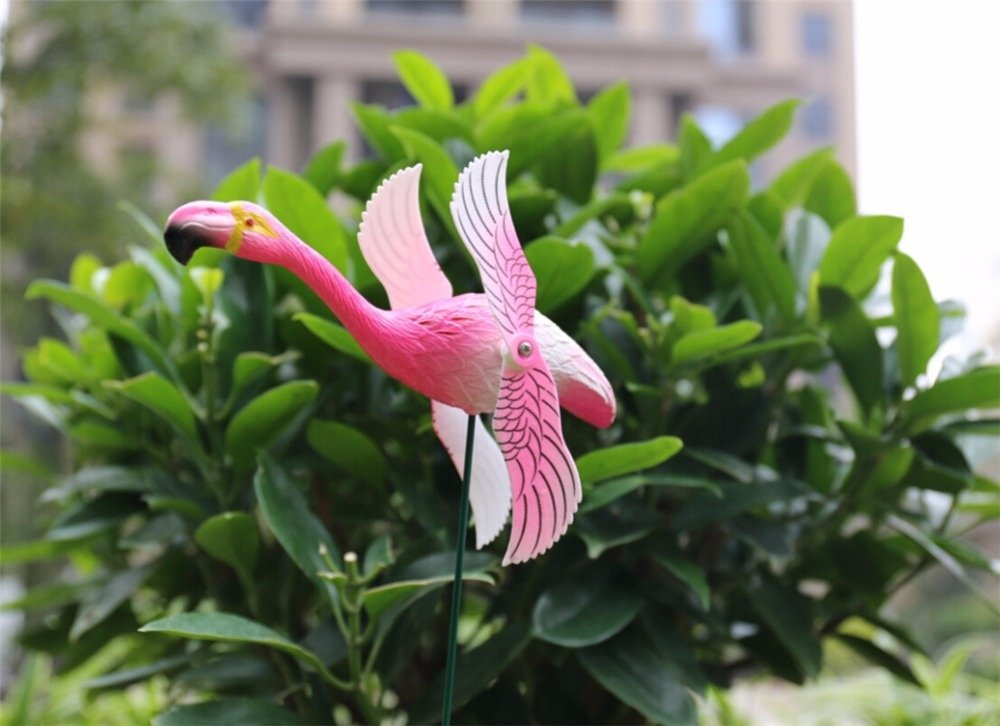 product-Osgoodway-Osgoodway Good Quantity Cheap Hot Sale Plastic Pink Garden wind fans flamingo for