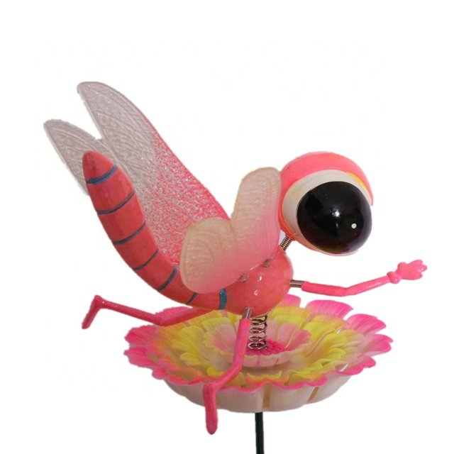 product-Osgoodway-Osgoodway Hot Sale wholesale PINK Plastic Dragonfly ornament garden decorfor yard