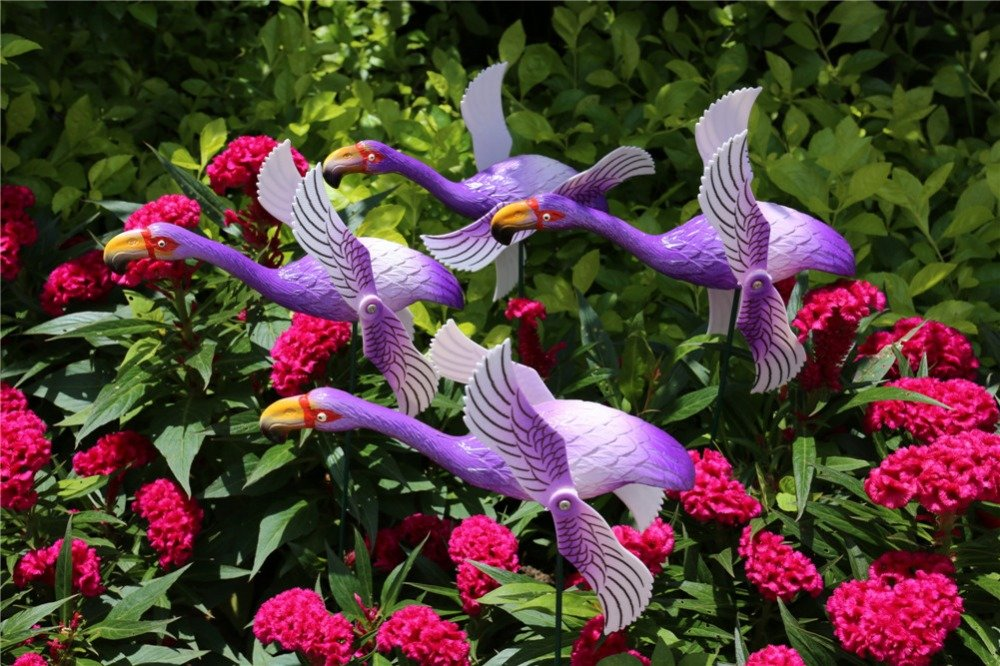 product-Osgoodway-Osgoodway New Products Home Garden Plastic Decor Flamingo In Purple From Golden S