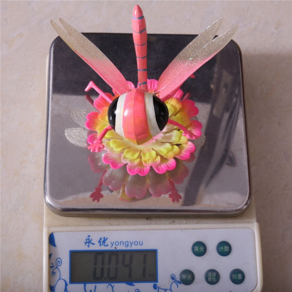 product-Osgoodway-Osgoodway8 KL_170622 New Designsdragonfly wings Moving In Flower Plastic Insect Ga