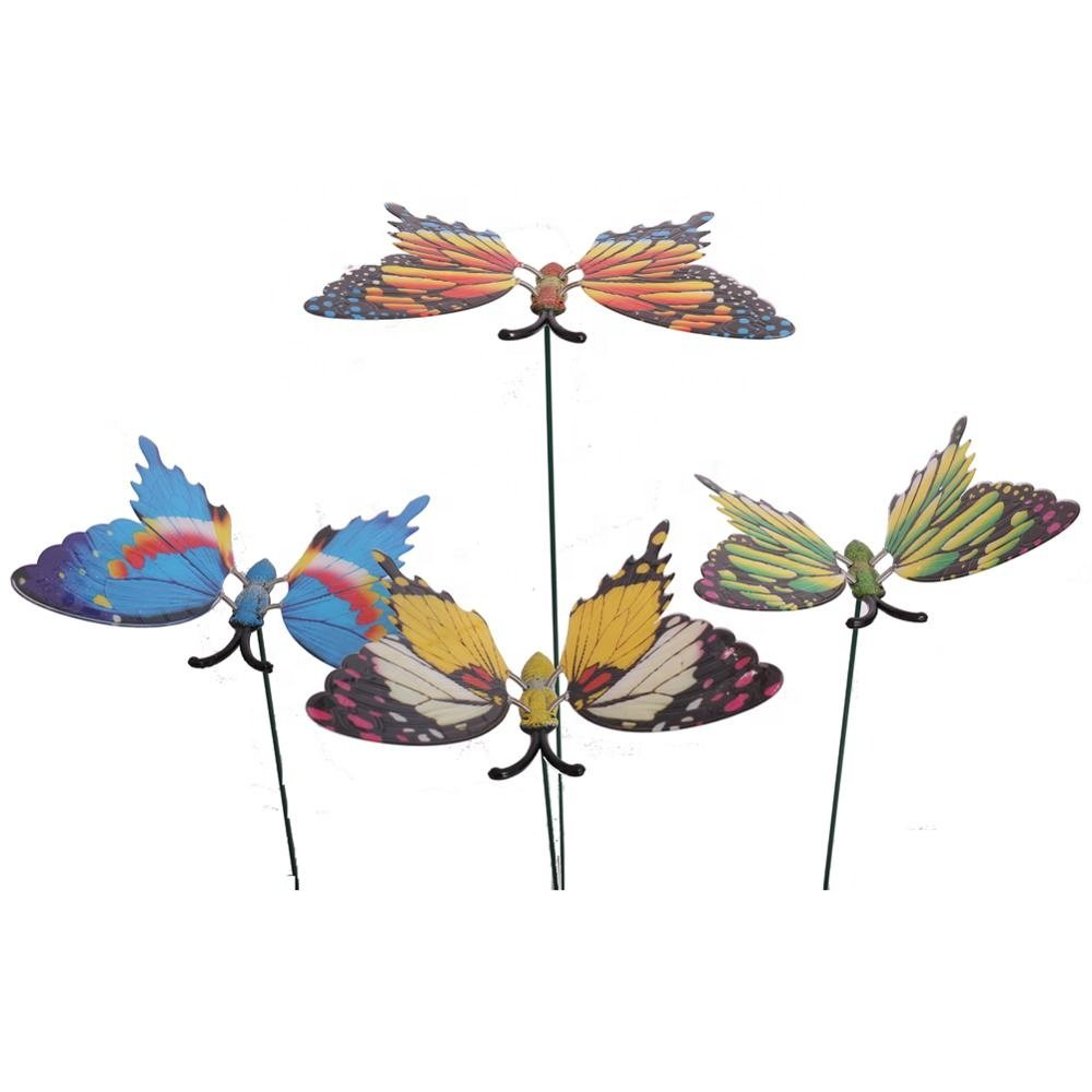 Osgoodway8 KM_151710002 Factory Outlet Hot Sales Home Decoration pieces Plastic Garden Butterfly Stakes
