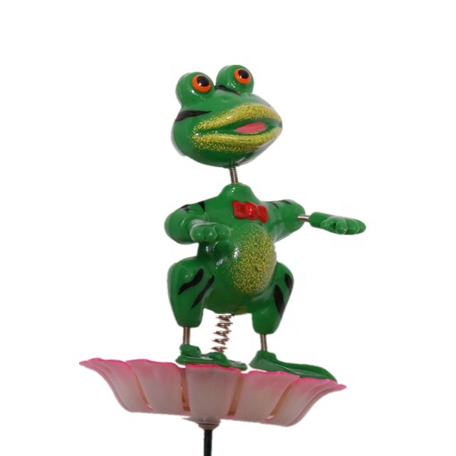 Osgoodway New Products High quality Green Frog Garden Decoration metal outdoor for Rainforest animal yard