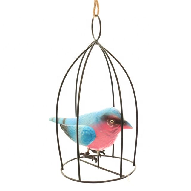 product-Osgoodway-OsgoodwayFactory Price CutePlastic Bird in Metal Bird birdcage FittingsGarden deco