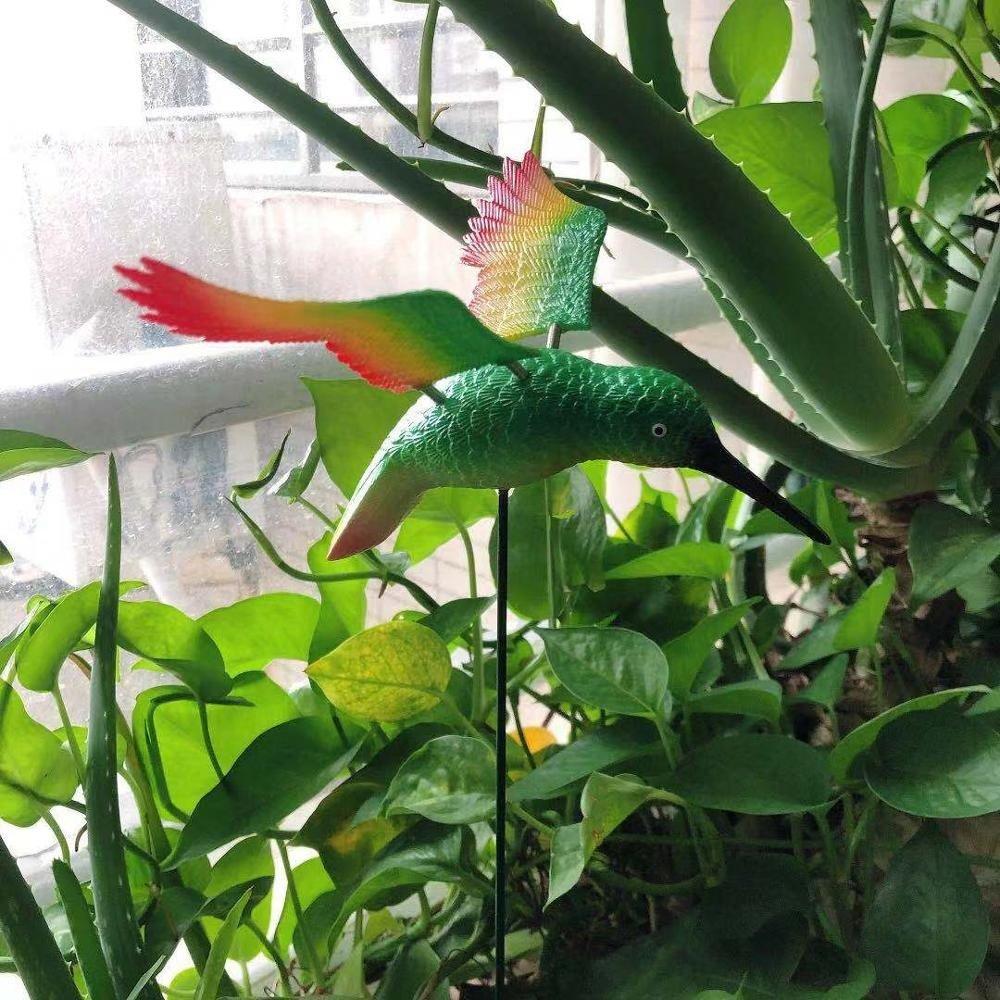 product-Osgoodway Hot Sale Wholesale Green Hummingbird Flying BirdMetal Outdoor Animal Garden Decora-1