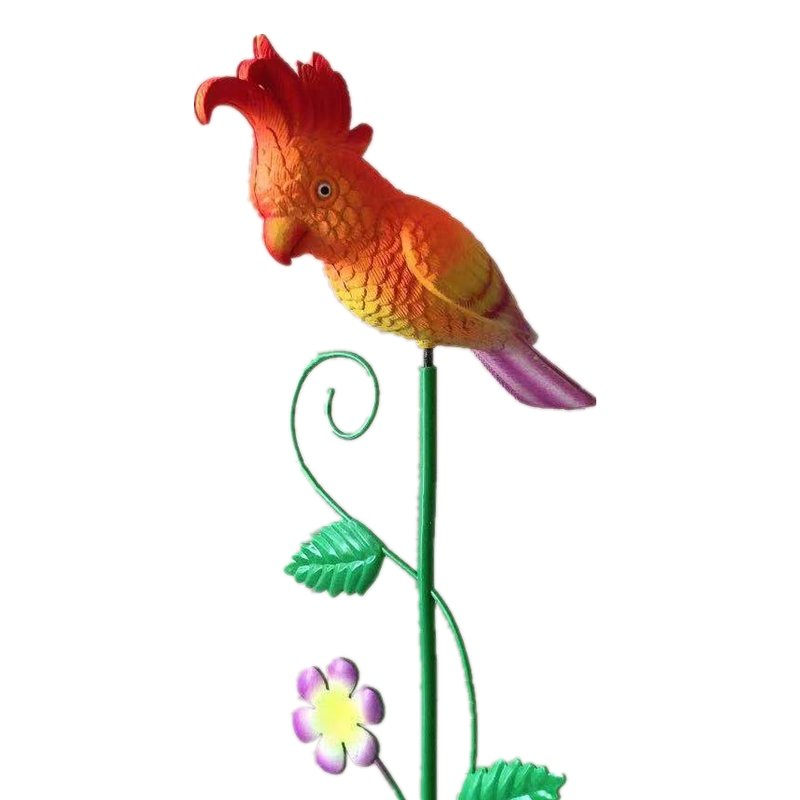 Osgoodway Wholesale High Quality Small Red Parrot Flying BirdAnimal Toys Decor Garden Ornament