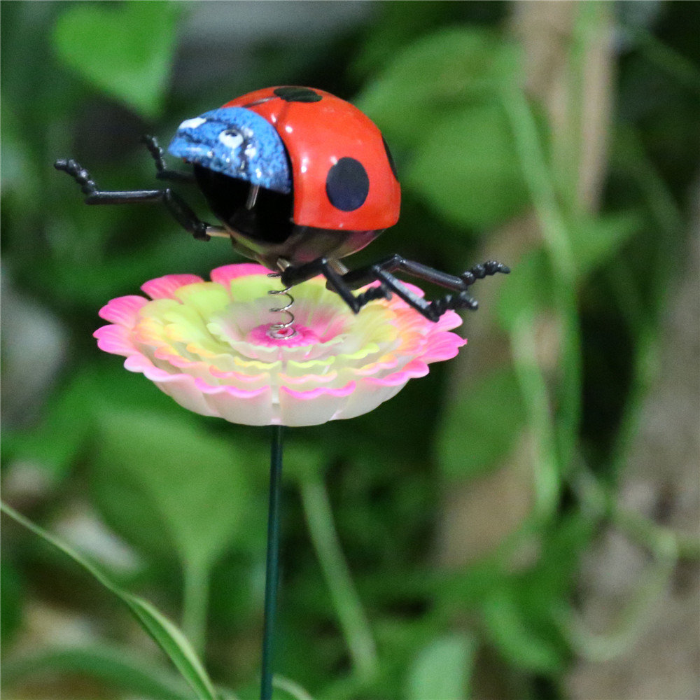 product-Osgoodway China Wholesale High quality Ladybird Miniature Insect Garden Ornament Garden Flow-1