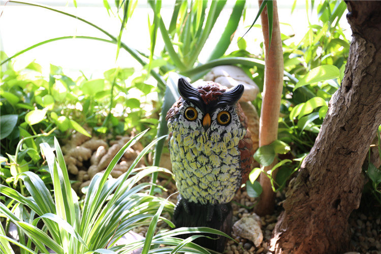 product-Osgoodway-Osgoodway1 Large Realistic Plastic Night Action Owl Decoy Bird Statue Crow Scarer