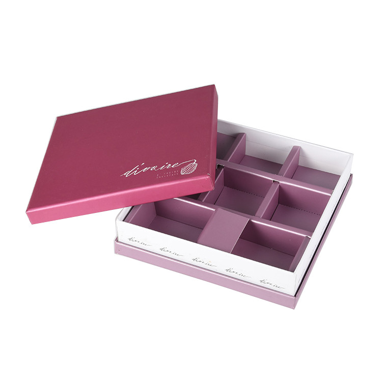 New Product Logo Custom Luxury Square Gift Paper Box with Compartments
