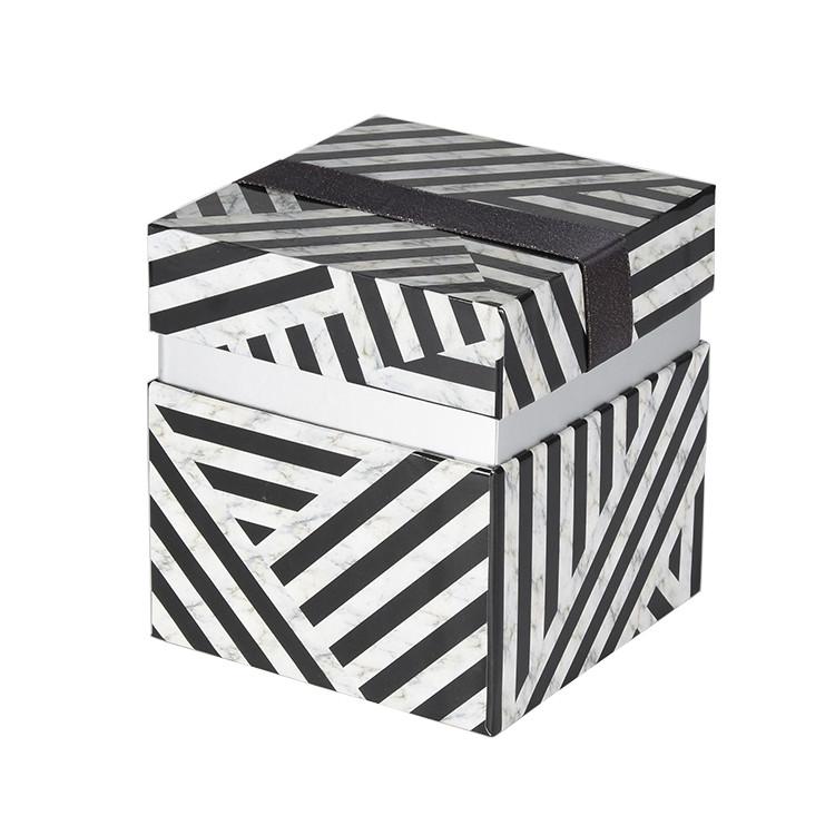 Fashion Design Custom Logo Gift Packing Zebra Pattern Big Size Paper Box