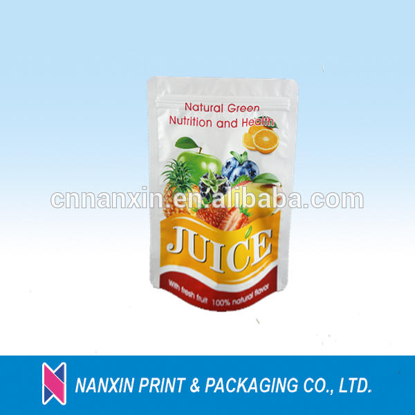 Food grade plastic packaging and printing stand up pouch for dried fruit