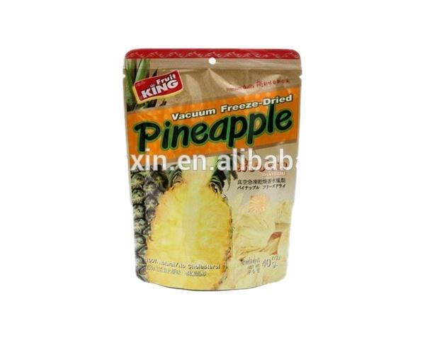 foil lined dried pineapple packaging stand up pouch