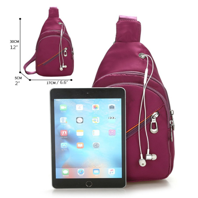 product-Osgoodway Casual Outdoor Women Men Cross Body Shoulder Bag with Headphone Port-Osgoodway-img-1