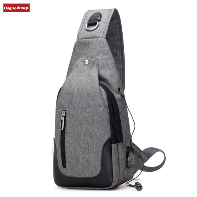 Osgoodway Waterproof Durable Chest Shoulder Lightweight Crossbody Outdoor Hiking Bag Backpack