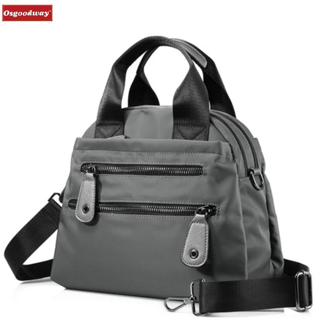 Osgoodway Large Capacity Travel Casual Women Nylon Waterproof Shopping Women Bag Luxury Designer Handbag