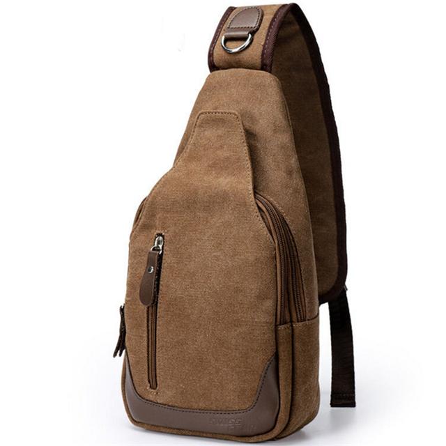 Osgoodway Hot Sale Casual Fashion Custom Logo Men Canvas Chest Bag Crossbody Shoulder Sling Bag