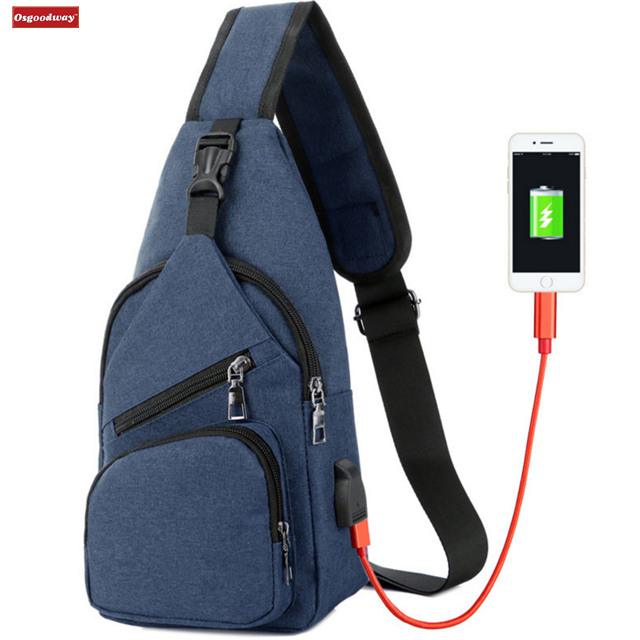 Osgoodway New Products Fashion Durable High Quality Men Crossbody Shoulder Bag for Travel Sports