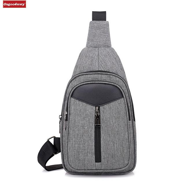 Osgoodway Oxford Men Casual Custom Logo Fashion Designer Crossbody Shoulder Bag for Travel Business Trip